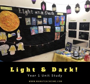 science, light and dark, homeschooling, shadows, dark
