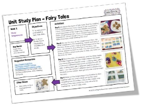 Mama Teaches Me Planning: Fairy Tales (4 Week Unit Study)