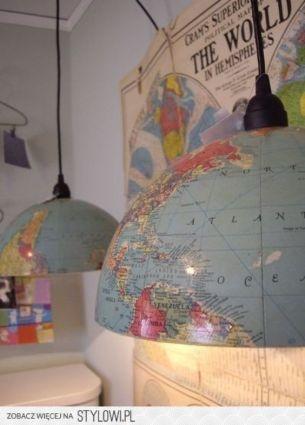 DIY wereldbol lampen