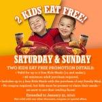 Gratis menú para Niños