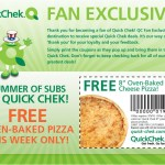 GRATIS: Pizza en Quick Check