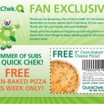 GRATIS: Pizza en Quick Check
