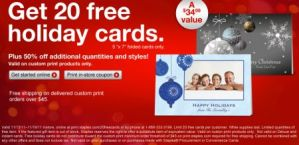 Gratis: 20 tarjetas de fiestas personalizadas en Staples
