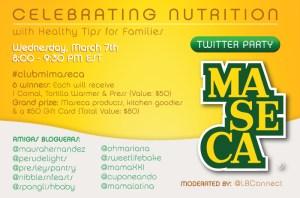 Maseca ¡Fiesta en Twitter, celebrando la nutrición!
