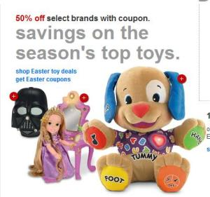 Cupones HOT en Target para juguetes de Fisher Price y princesas Disney