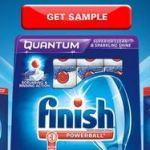 Muestra gratis de detergente para vajilla Finish Quantum