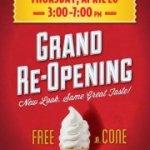 Gratis helado hoy 04/26 en Carvel
