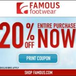 Cupón de 20% off en Famous Footwear: oferta de Memorial Day