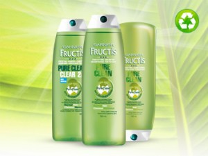 Gratis muestra de shampoo y acondicionador Garnier Pure and Clean