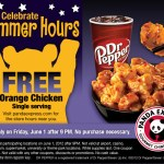 Gratis Orange Chicken en Panda Express