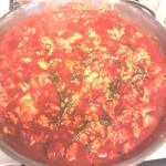 Receta: Huevo con espinacas en salsa guajillo