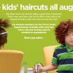 GRATIS cortes de pelo para niños en JCPenney