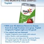 GRATIS yogurt Yoplait (10.000)