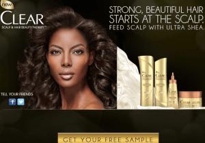 slear ultra shear, shampoo, aconditioner, muestra gratis