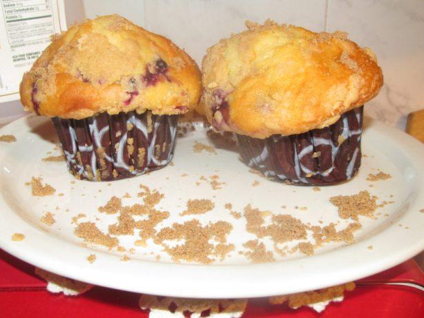 muffins de arándanos y lino