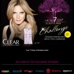 Muestras gratis para 7 días de shampoo y acondicionador Clear Scalp &Hair Beauty Therapy