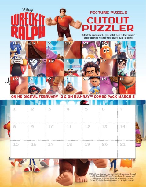 Picture Puzzle Wreck It Ralph