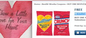 Gratis NESTLÉ® corazón de San Valentín con cupón