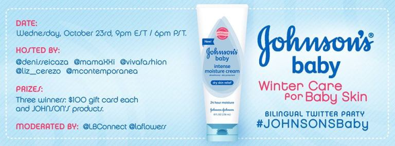 JohnsonsBaby Twitter Party Graphic