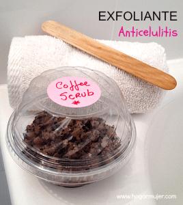 Exfoliante anticelulitis de Café