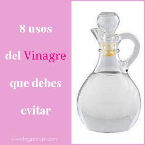 8 Usos del Vinagre que debes evitar