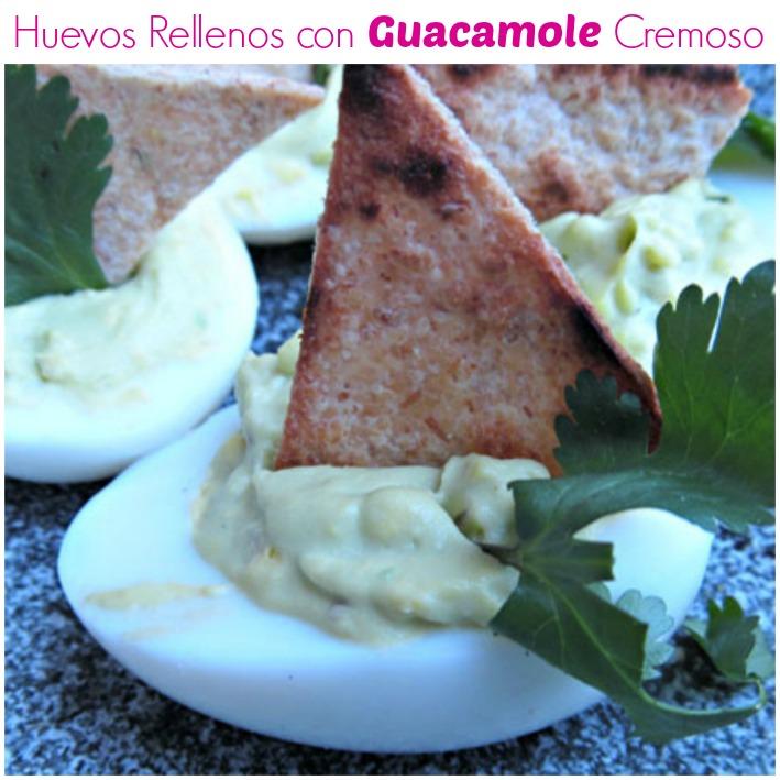 huevos rellenos guacamole