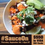 ¡Fiesta en Twitter! #SauceOn 9/4