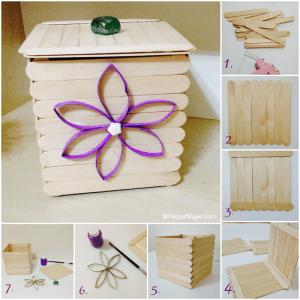 Como hacer una caja con palitos de madera