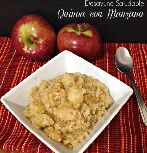 manzana y quinoa