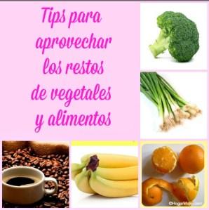 Como aprovechar los restos de vegetales y alimentos