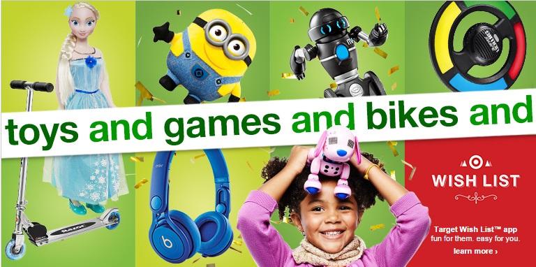 catálogo de juguetes y regalos en Target