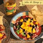 Salsa de tomate, mango y habichuelas negras en 2 minutos