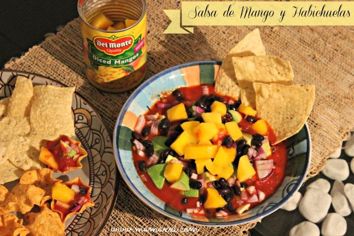 Salsa de mango y habichuelas