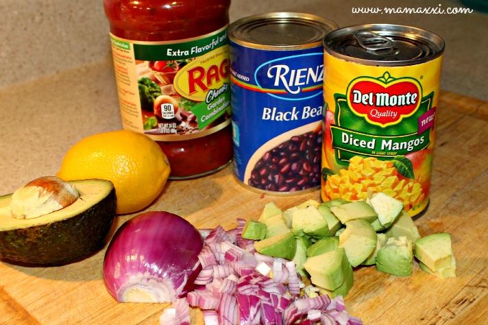 receta salsa de mango y habichuelas ingredientes