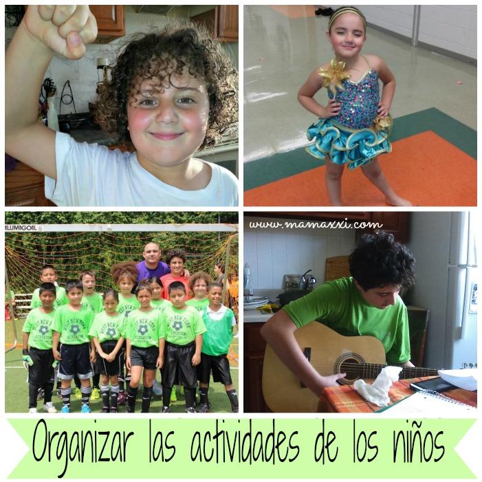 Organizar las actividades de los niños