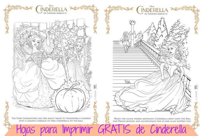hojas para imprimir de Cinderella