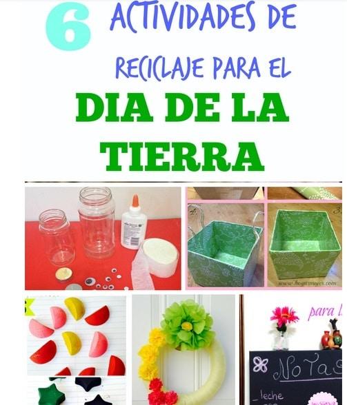 6 actividades de reciclaje para celebrar el día de la tierra