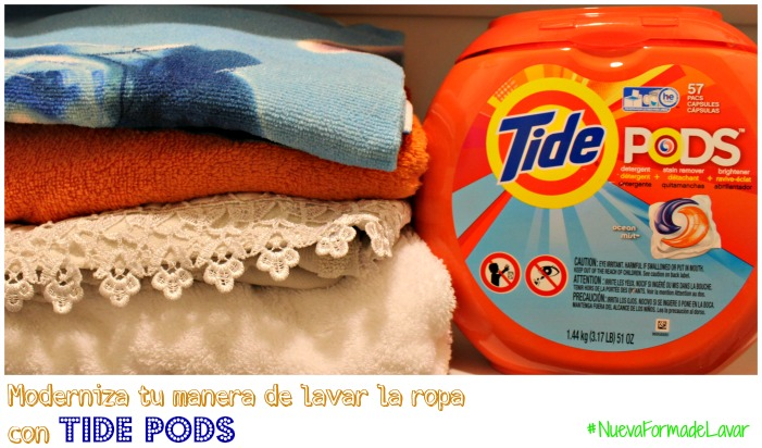 Moderniza tu manera de lavar la ropa con Tide Pods