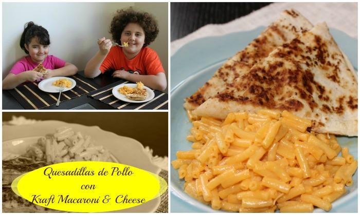 Quesadillas y Mac & Cheese