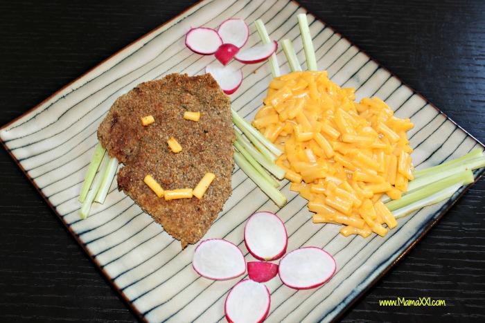 milanesas con macarrones con queso