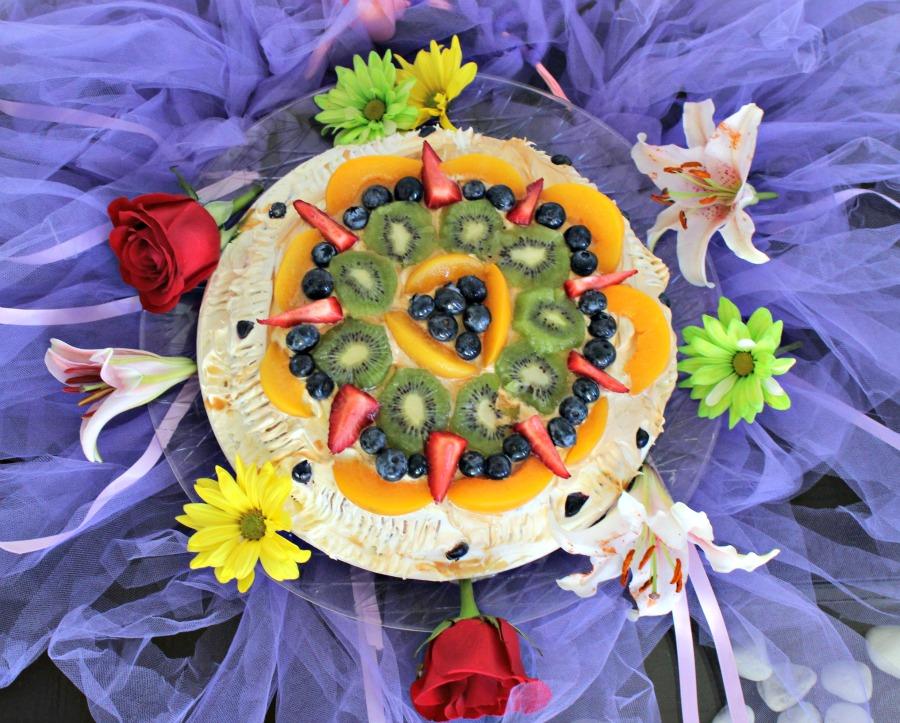 torta, pastel de frutas