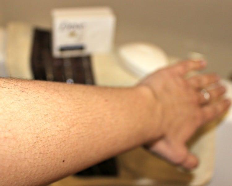 piel después de usar una semana DOVE