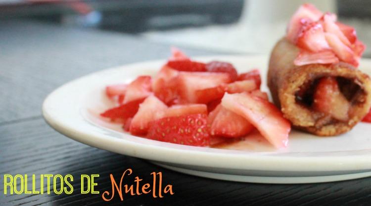 nutella rollitos fresas receta