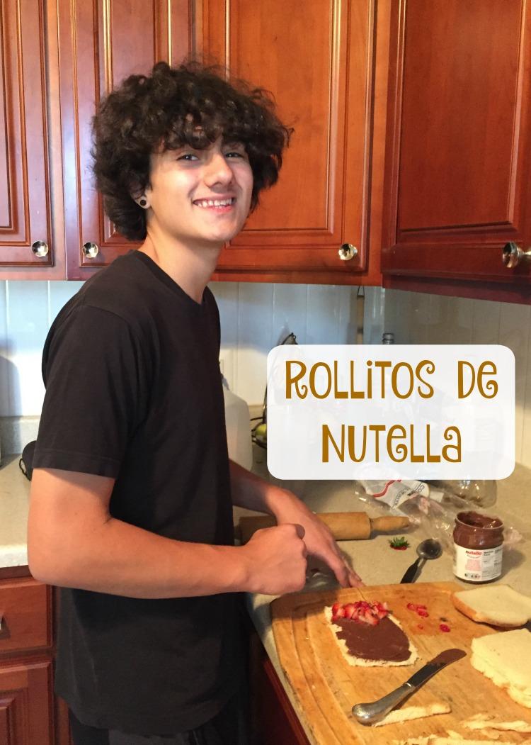 rollitos nutella fresas receta