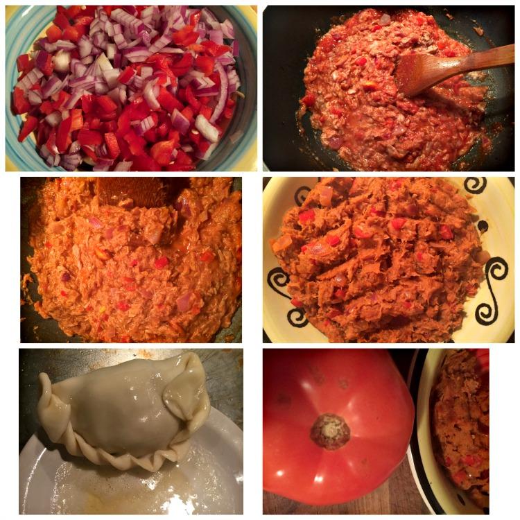 empanadas, clamato, tomate, atun, receta, paso a paso