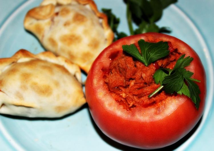 tomate, relleno, atún, receta