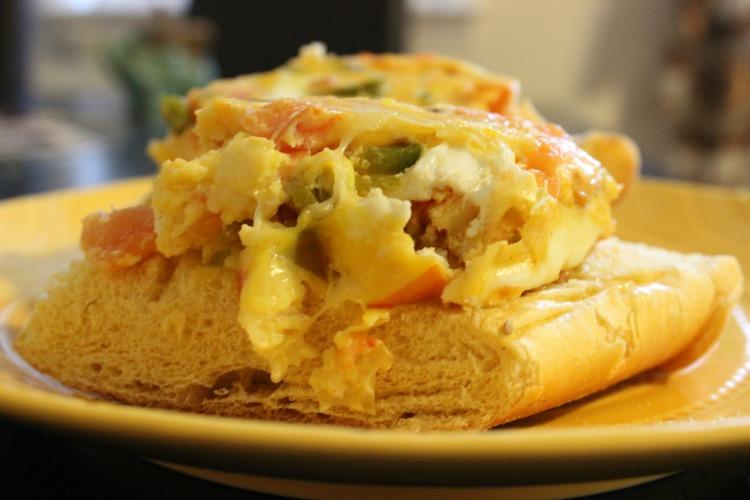 receta, tortilla de huevo, huevos horneados, crostini, plato, comida