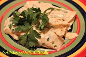receta, enchiladas, pollo, chipotle