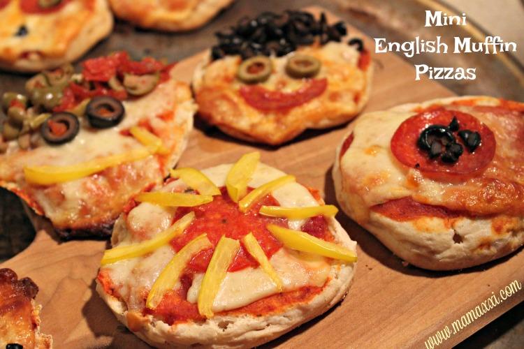 english muffins, pizzas divertidas, pizzas individuales, café, desayuno
