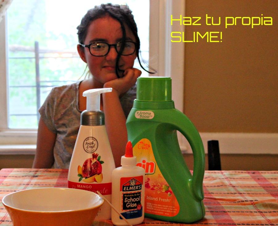 masa elastica, hacer en casa, paso a paso, slime